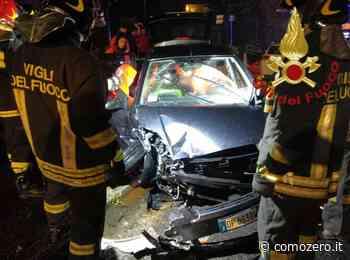 Guanzate, scontro frontale nella notte tra due auto: un ferito - Como Zero - ComoZero