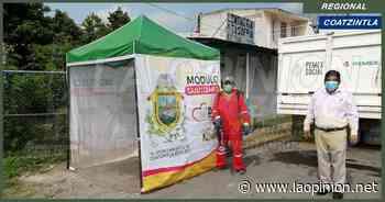 Hay rotación de módulos de sanitización en el municipio de Coatzintla - La Opinión