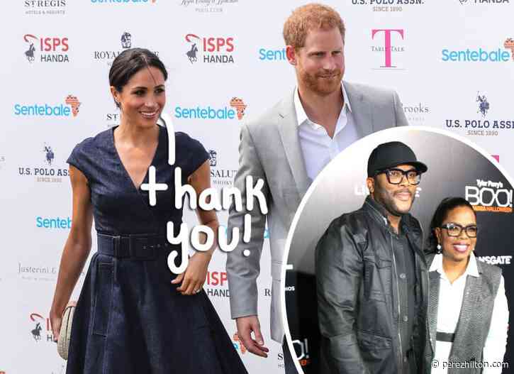 Meghan Markle & Prince Harry Are Said To Be Staying In Tyler Perry's $18 Million Mansion!