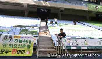Cardboard fans, empty stands: Leagues lurch back to life