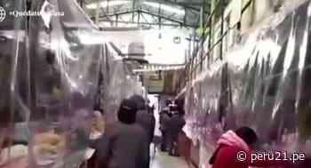 ¡Ejemplar! Comerciantes de Cerro de Pasco cubren sus negocios con cortinas de plástico para evitar COVID-19 - Diario Perú21