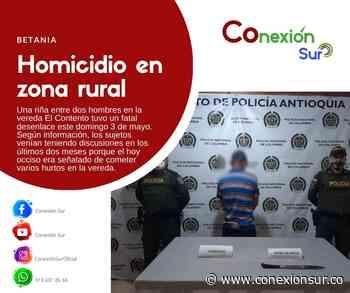 Homicidio en zona rural de Betania - ConexionSur