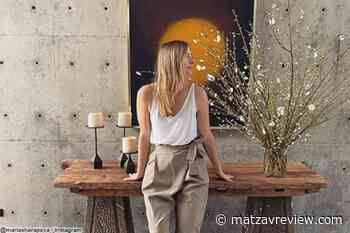 Maria Sharapova begins detox india to avoid the stress of the coronavirus - Matzav Review