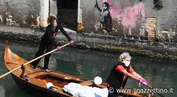Row Venice, donne ai remi per consegnare la spesa a domicilio - Il Gazzettino