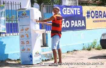 Prefeitura de Itapissuma instala pias para higienização das mãos em vários locais da cidade - Diário de Pernambuco