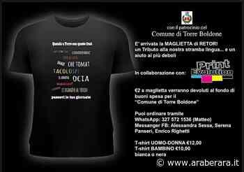 """TORRE BOLDONE - La maglietta di """"Retor"""" (Torre) con le scritte """"al contrario"""" per beneficenza: """"Si invertivano le sillabe di una parola. La drema era la madre"""" - Araberara"""
