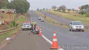 Homem morre após batida entre bicicleta e moto na rodovia em Pederneiras - G1