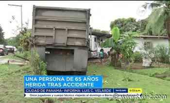 Noticias Camión choca con residencia en Calzada Larga - TVN Panamá