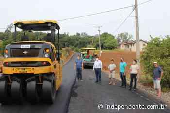 Arroio do Meio conclui trecho de asfalto no Passo do Corvo e retoma pavimentação na VRS-482 - independente