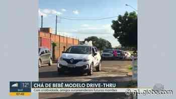 Amigos surpreendem grávida com chá de bebê por 'drive-thru' em Bebedouro: 'não esperava por isso' - G1
