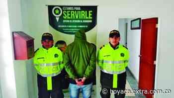 En Tópaga, agarraron golpeador de mujeres | Boyacá - Extra Boyacá