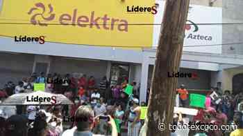 Comerciantes de Huejutla exigen cierre de tienda Elektra - Noticias de Texcoco
