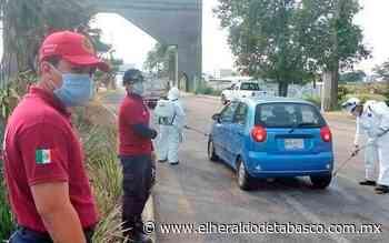 Inspeccionan y sanitizan vehículos que ingresen a Huimanguillo - El Heraldo de Tabasco