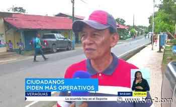 Noticias Residentes de Cañazas piden más presencia policial - TVN Panamá