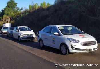Engavetamento envolve veículos de Bandeirante e Descanso, em Pinhalzinho - JRTV Jornal Regional