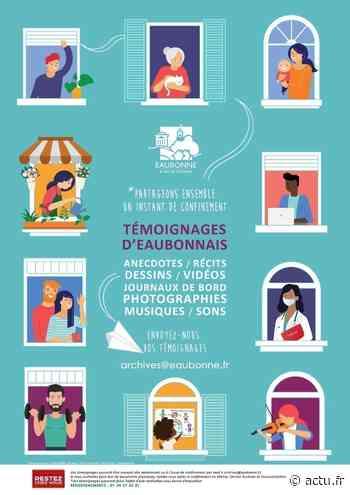Val-d'Oise. Eaubonne : vos témoignages de confinés sont précieux ! - actu.fr