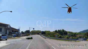 Incidente a Cornuda, moto tampona auto in manovra di svolta: motociclista elitrasportato all'ospedale di Treviso - Qdpnews.it - notizie online dell'Alta Marca Trevigiana