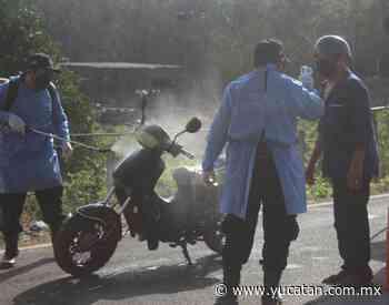 Sanitizan vehículos en Peto - El Diario de Yucatán