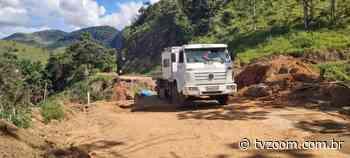 Estrada que liga Friburgo a Sumidouro passa por obras de contenção - Zoom