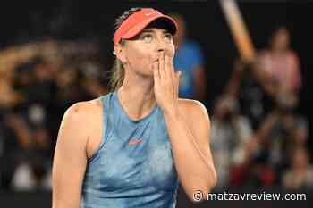 Maria Sharapova announces her withdrawal - Matzav Review