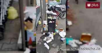 Weggeworfene Einweghandschuhe sorgen für Unmut in Laupheim - Schwäbische