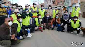 Pobladores de Patacamaya forman grupo de voluntarios para evitar propagación del Covid-19 - eju.tv