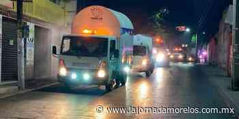 Sanitizan las avenidas calles de Jiutepec, reducir contagio - La Jornada Morelos
