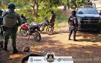 Aseguran dos motocicletas vinculadas a presuntos delitos en Arcelia - El Sol de Acapulco