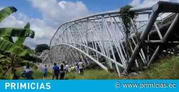 Puente vehicular en el cantón Colimes colapsa - Primicias