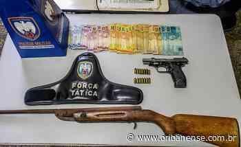 PM apreende armas de fogo em Aracruz - O Ribanense - O Ribanense