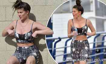 Love Island's Rebecca Gormley showcases her toned figure during jog in Newcastle - Daily Mail