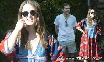 Keira Knightley and husband James Righton ring in the 75th anniversary of VE Day - Daily Mail