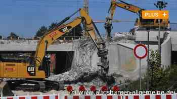Zeitraffer-Video: Bahnbrücke an der Hirblinger Straße in Gersthofen abgerissen - Augsburger Allgemeine