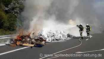 Lkw-Brand auf der A39 bei Cremlingen sorgt für Vollsperrung - Wolfenbütteler Zeitung