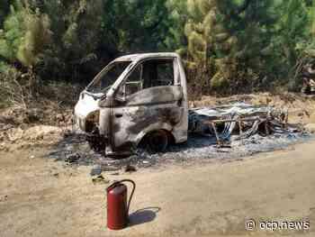Carro é encontrado em chamas com corpo carbonizado em Araquari - OCP News