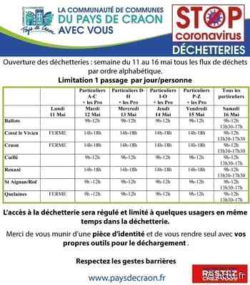 Tous les déchets acceptés dans les déchetteries du Pays de Craon - actu.fr