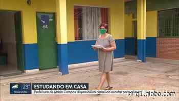 Durante pandemia, Prefeitura de Mário Campos disponibiliza conteúdos escolares - G1
