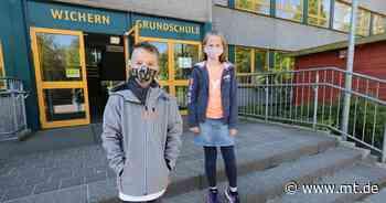 Unterricht in der Turnhalle: Viertklässler der Wichern-Schule Bad Oeynhausen improvisieren beim Neustart | Regionales - Mindener Tageblatt
