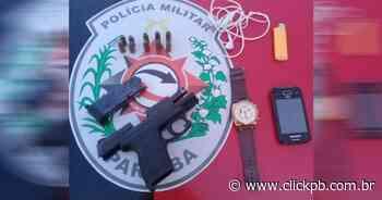 Homem armado é preso em frente à Caixa Econômica em Itaporanga - ClickPB