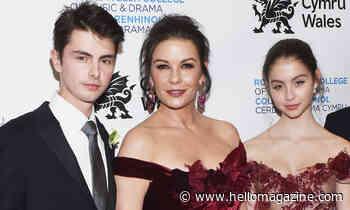 Catherine Zeta-Jones shares family photo taken shortly after she gave birth - HELLO!