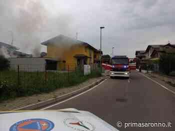 Box in fiamme, pompieri in azione a Mozzate - FOTO - Varese Settegiorni