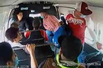 Captan robo a transporte público en Ixtapaluca; usuarios denuncian complicidad de operador - Publimetro México