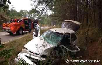 Trânsito: Acidente na SC-452 em Fraiburgo deixa feridos - Caçador Online