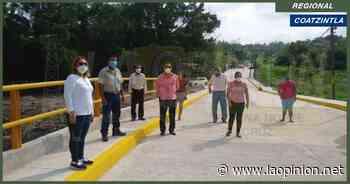 Millonaria inversión en puente vehicular para el municipio de Coatzintla - La Opinión