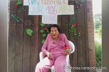 La profe Celina celebró 106 años con serenata, piñata y pastel - Noticias Caracol