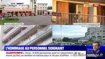 Rouen, Levallois-Perret, Nice... L'hommage des Français au personnel soignant de ce dimanche - Actu Orange