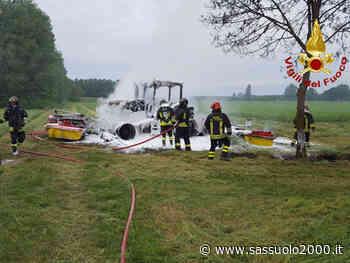 Incendio di un mezzo agricolo nel pomeriggio ad Argelato - sassuolo2000.it - SASSUOLO NOTIZIE - SASSUOLO 2000