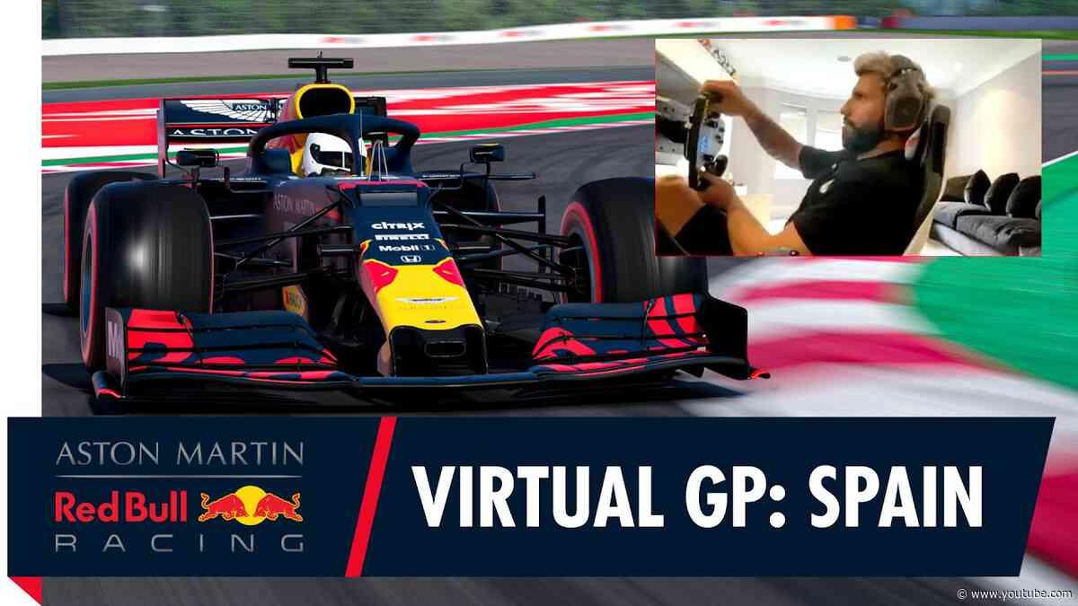 Sergio Agüero teams up with Alex Albon for the Spanish F1 Virtual Grand Prix