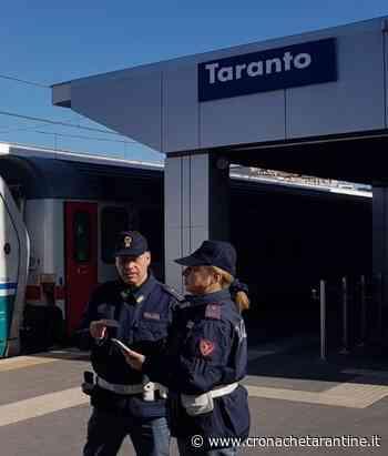 In treno da Massafra a Taranto senza motivo, cerca di sfuggire ai poliziotti: denunciato - Cronache Tarantine