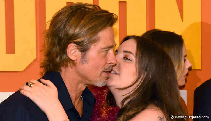 Lena Dunham Finally Addresses That Awkward Brad Pitt Kissing Photo